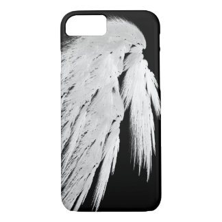 ANGEL WINGS Gray Touched Feathers Left Custom iPhone 7 Case