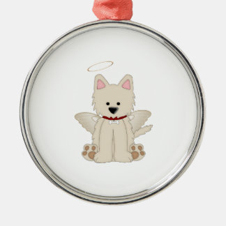 Angel Wings Halo Puppy Dog 1 Christmas Ornament