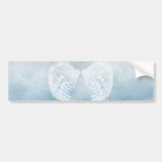 Angel Wings in Cloudy Blue Sky Bumper Sticker