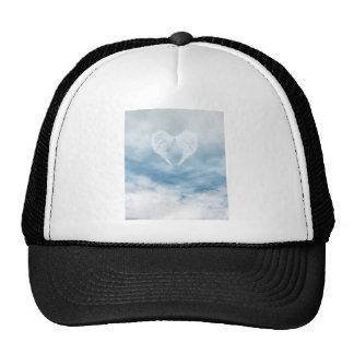 Angel Wings in Cloudy Blue Sky Mesh Hat