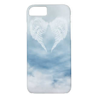 Angel Wings in Cloudy Blue Sky iPhone 7 Case