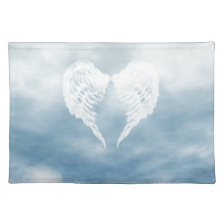 Angel Wings in Cloudy Blue Sky Placemat