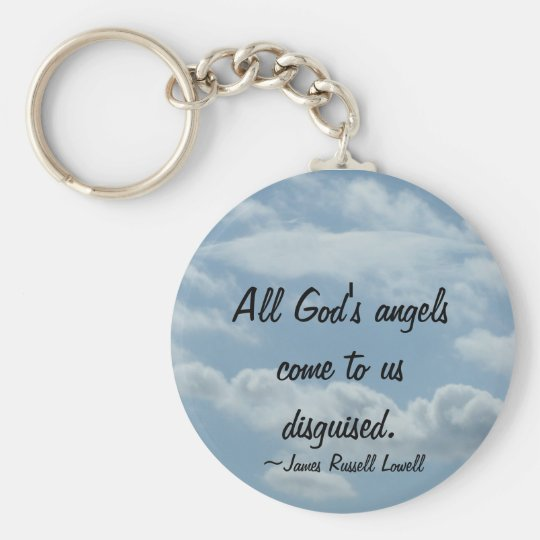 Angel Wings in the Clouds Key Chain