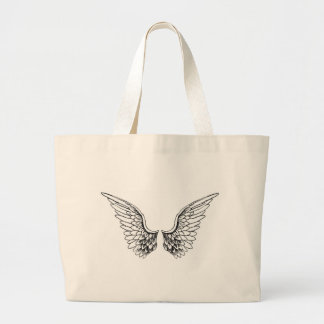 Angel Wings Large Tote Bag