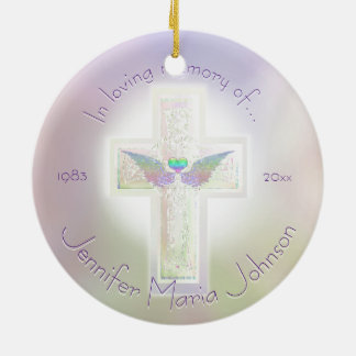 Angel Wings Memorial Custom Christmas Ornament