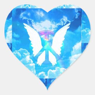 Angel Wings & Peace Heart Sticker