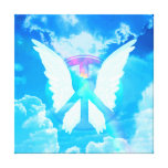 Angel Wings & Peace Sign Gallery Wrapped Canvas