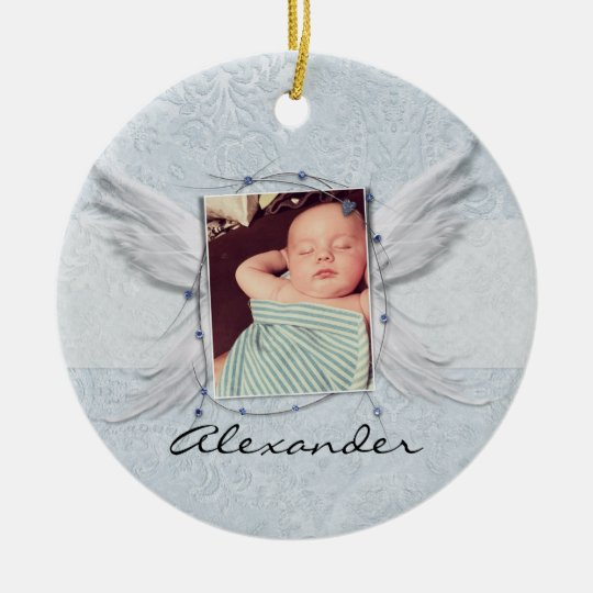 Angel Wings photo Frame Blue Baby Instagram Christmas