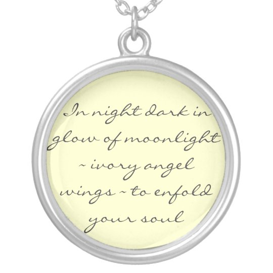 Angel Wings Poem Necklace