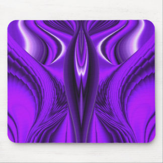 Angel Wings, Purple Abstract Fantasy Rainbow-Art Mouse Pad