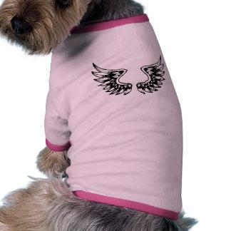 Angel WINGS Ringer Dog Shirt