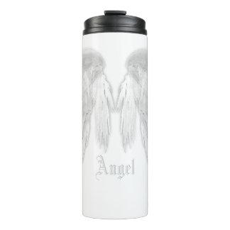ANGEL WINGS White Custom Name Thermal Tumbler
