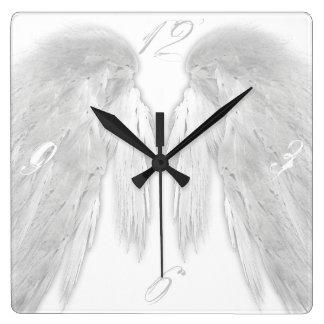 ANGEL WINGS White Custom Numbers Wallclocks