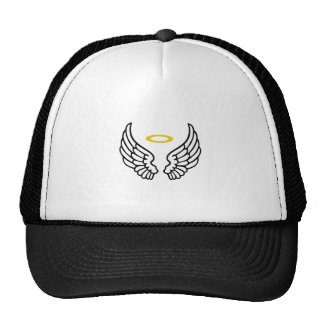 ANGEL WINGS WITH HALO TRUCKER HAT