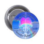 Angel Wings with Heart 6 Cm Round Badge