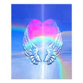 Angel Wings Wrapped Around a Heart 11.5 Cm X 14 Cm Flyer