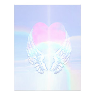 Angel Wings Wrapped Around a Heart 21.5 Cm X 28 Cm Flyer