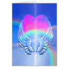 Angel Wings Wrapped Around a Heart Card