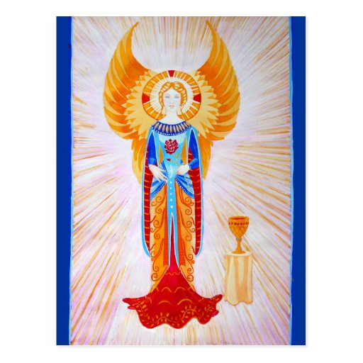 Angel With a Rose (plain) Postcard