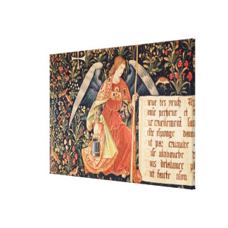 Angel with a sponge attached to a rod canvas print