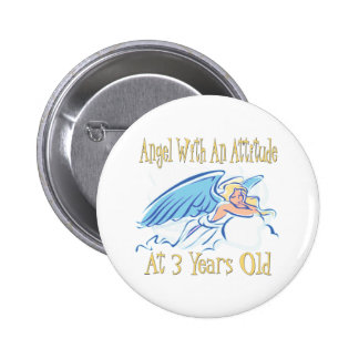 Angel With Attitude at 3 Pinback Buttons