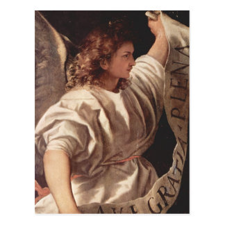 Angel with Banner 1522 Postcard