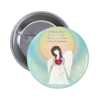 Angel With Broken Wing 6 Cm Round Badge