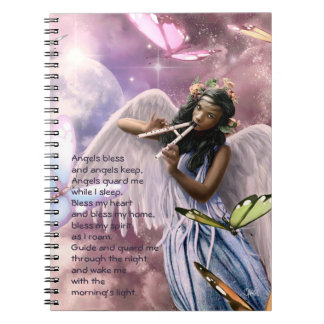 Angel with Butterflies Custom Easter Gift Notebook