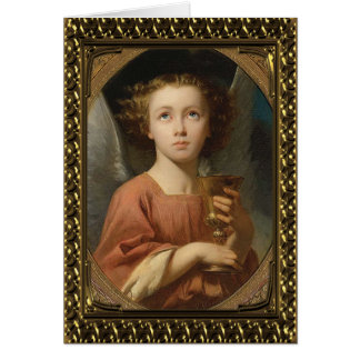 Angel With Chalise - Vintage Fine Art Card