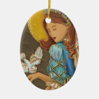 Angel with Dove Christmas Ornament
