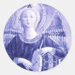 Angel with Drum Classic Round Sticker