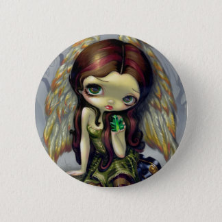 """Angel with Emeralds"" Button"