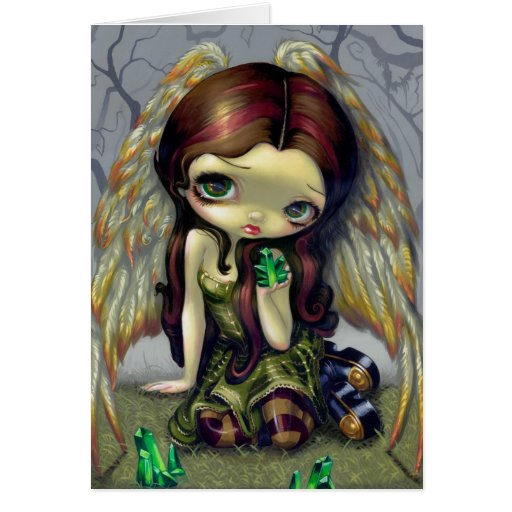 """""""Angel with Emeralds"""" Greeting Card"""