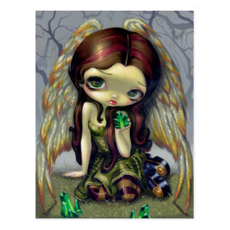 """Angel with Emeralds"" Postcard"