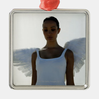 Angel with eyes closed christmas ornament
