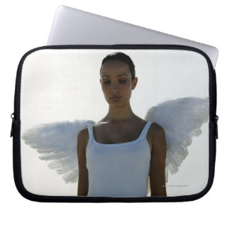 Angel with eyes closed laptop sleeve