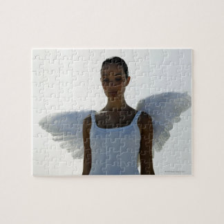 Angel with eyes closed puzzles
