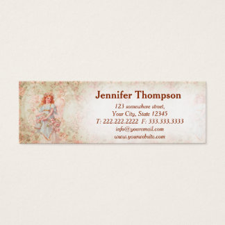 Angel with flowers mini business card