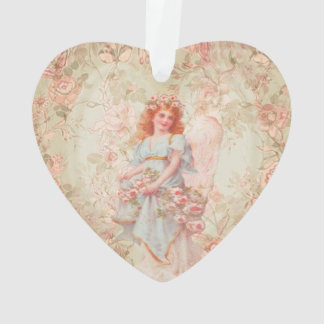Angel with flowers ornament