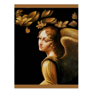 Angel with Golden Leaves Postcard