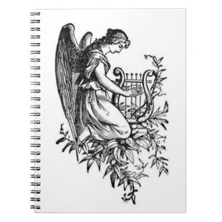 Angel With Harp And Flora Notebook
