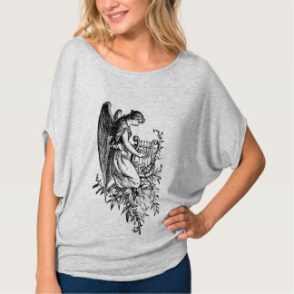 Angel With Harp And Flora T-Shirt
