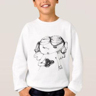 Angel with heart sweatshirt