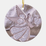 Angel with Heart with Heart Ornament