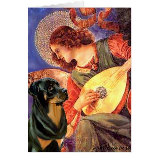 Angel With Mandolin - Rottweiler (#3) Card