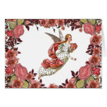 Angel With Pink Ribbon And Roses