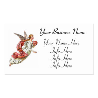 Angel With Pink Ribbon Business Card Templates