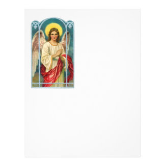 Angel With Pink Ribbon Triptych 21.5 Cm X 28 Cm Flyer