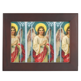 Angel With Pink Ribbon Triptych Memory Boxes