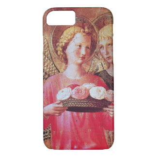 ANGEL WITH PINK WHITE ROSES iPhone 7 CASE